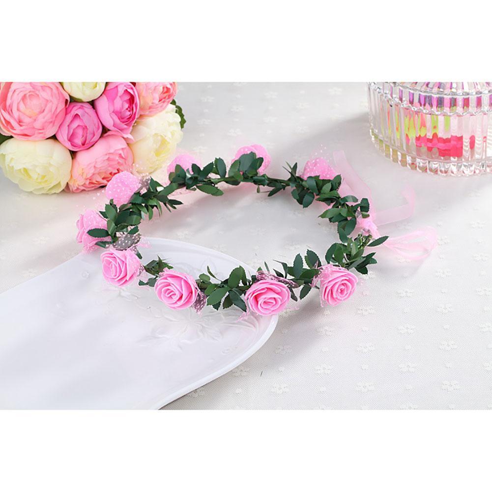 Bridesmaid Flower Crown Artificial Flower Head Wreath For Women Hair