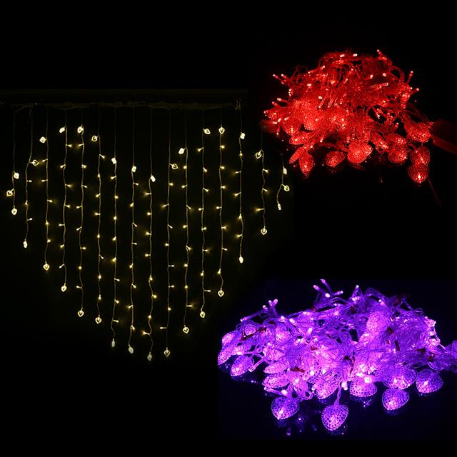 Feriado Festa de casamento Decoração Do Partido LIDERADO 124LED Luz da Forma Do Coração LEVOU Luz Plugue DA UE