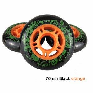 Image 5 - 80 76mm 85A Rollers for Inline Skates Slide Slalom Skates Wheels For Kids Adult Good as Powerslide Seba Patins Roller Wheel LZ25
