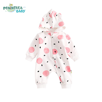 Autumn Infant Christmas Clothes Hooded Long Sleeve Unisex Baby Suit Cotton Newborn Jumpsuits Fashion Baby Rompers