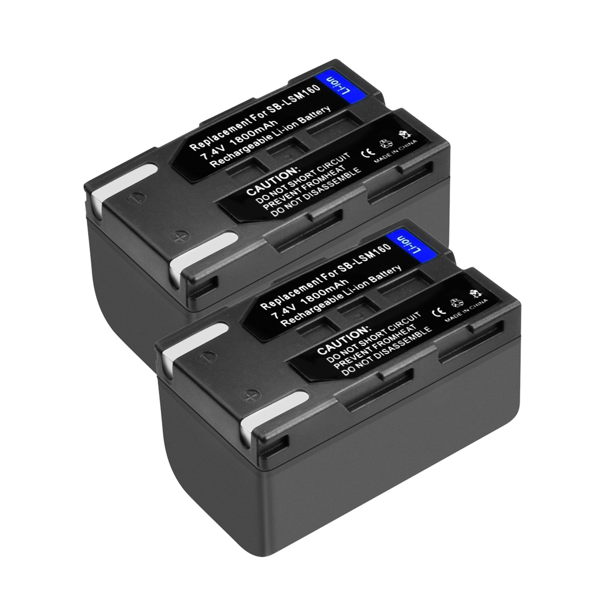 2Packs 7.4V 1800mAh SB LSM160 SB LSM160 SBLSM160 Camera