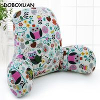 Owl Tree Pattern Rest Waist Pillow Arm Support Chair Car Seat Throw Pillows Sofa Bed Reading Cushion Cotton Linen Creative Gifts