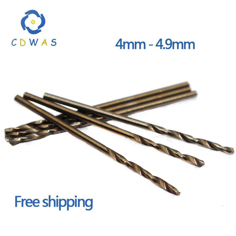 4mm 4.0 4.1 4.2 4.3 4.4 4.5 4.6 4.7 4.8mm HSS-CO M35 forets hélicoïdaux à queue droite en acier Cobalt pour l'acier inoxydable