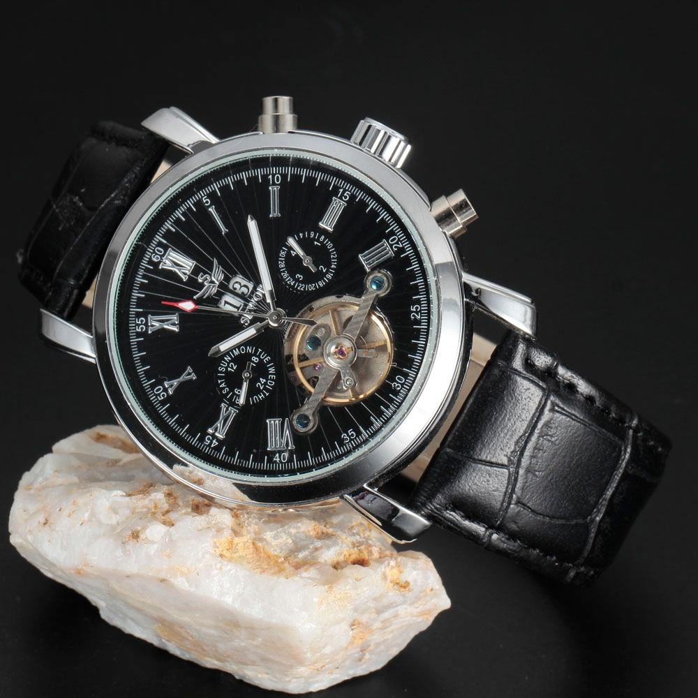 SEWOR Brand Automatic Watch Men Luxury Tourbillon Calendar Dial Design Fashion Skeleton Mechanical Watches Vintage Leather Reloj mynos vintage luxury brand design 100