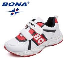 Bona Новые популярные Стильные Детские повседневные туфли синтетические