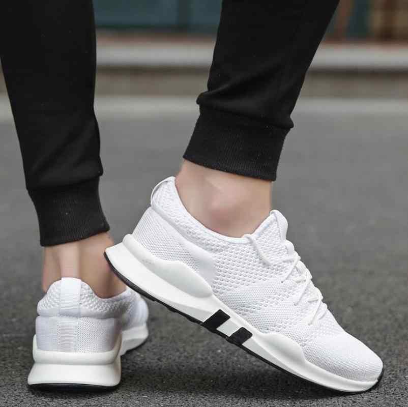 LZJ Mode Outdoor Mannen White Sneakers Hoge Kwaliteit Merk Casual Ademende Schoenen Mesh Zachte Jogging Tennis Heren Schoenen Zomer