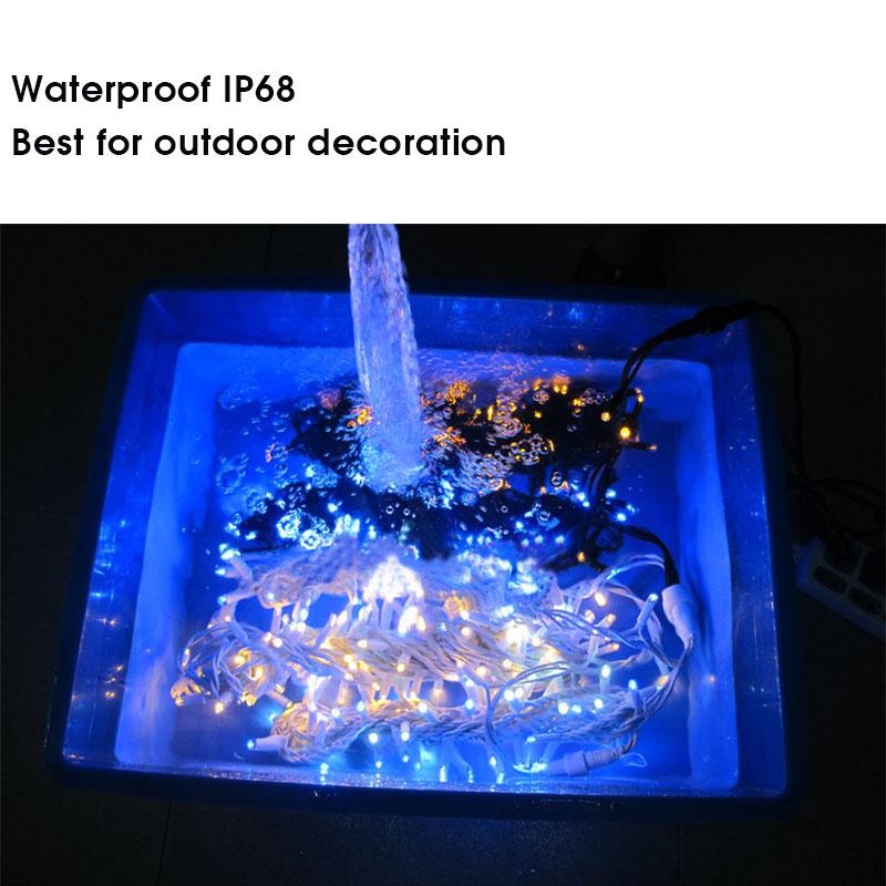 Utomhus Vattentät IP68 LED ljus chian fest dekoration jul ljus - Festlig belysning - Foto 5