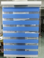 2015 New 100 Polyester Translucent Roller Zebra Blinds In Dark Blue Custom Made Window Curtains For