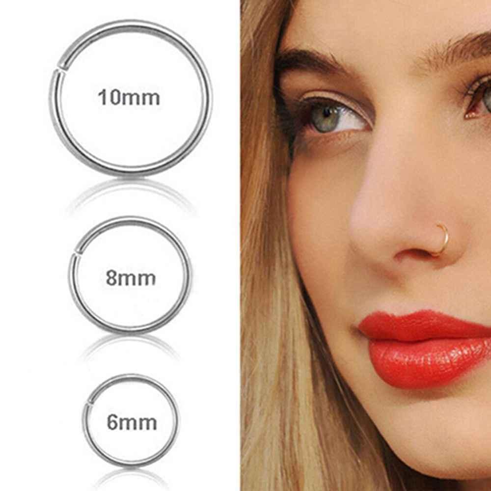 1 pcs חדש הגעה כירורגי פלדת 0.8mm סחוס פירסינג Stud דק קטן האף טבעת חישוק תכשיטים 3 גדלים ו צבעים