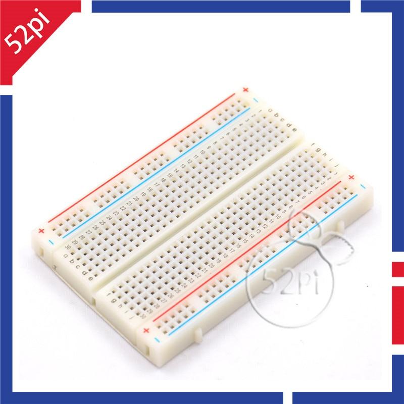 Mini Breadboard Solderless Protoboard PCB Test Board 400 Contacts Tie Points