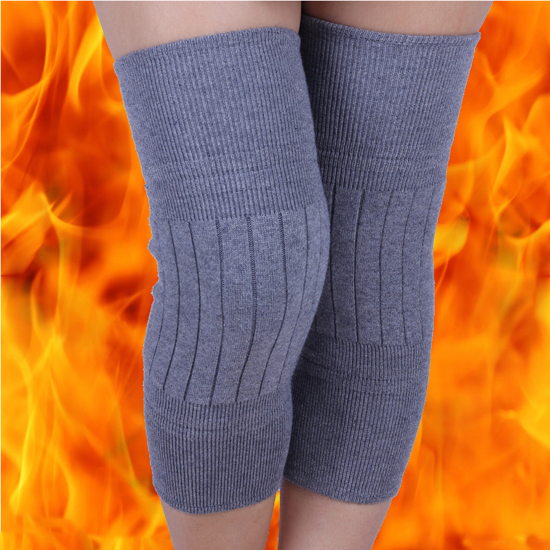 Men's Kneecap Knitted, Thickened, Soft Wool Leggings, Warmer And More Elastic, Cashmere Kneecap.