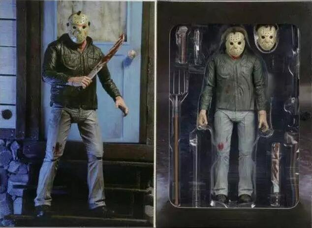 Friday the 13th Jason Voorhees joint Movable Movie Anime Figure PVC 18CM Collection Model Toy Action figure neca batman begins bruce wayne joint movable pvc action figure collectible model toy 7 18cm