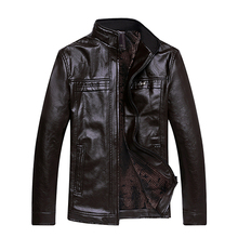 Men Motorcycle Leather Jackets Men Autumn and Winter PU Leather Clothing Plus Velvet Men Leather Jackets Male Hot Sale Coats