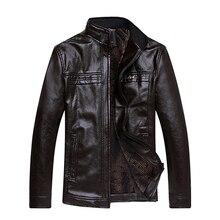 Men Motorcycle Leather Jackets Men Autumn and Winter PU Leather Clothing Plus Velvet Men Leather Jackets