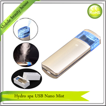 Fashionable Micro Hot Selling High Quality LED Mini USB Rechargeable Nano Facial Handy Mist Spray Face Steamer
