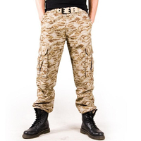 New coolNice Men Trousers Camouflage Cargo Men Military Tactical Combat Camo Pants thick Men clothing Men Pants