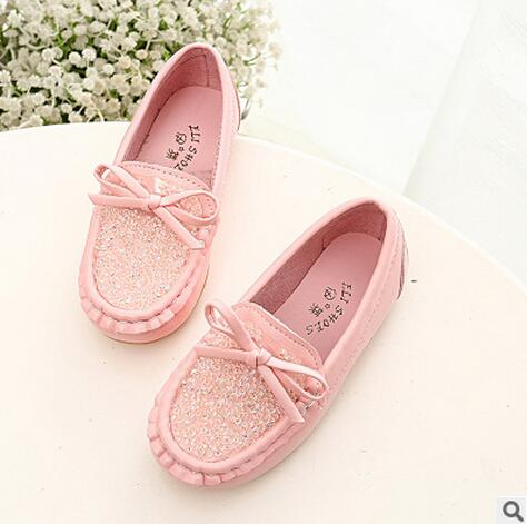 Spring And Autumn Children Moccasins Female Girls Leather Sport Shoes Princess Rhinestone Bow Baby Single Sneakers Kids BootsSpring And Autumn Children Moccasins Female Girls Leather Sport Shoes Princess Rhinestone Bow Baby Single Sneakers Kids Boots