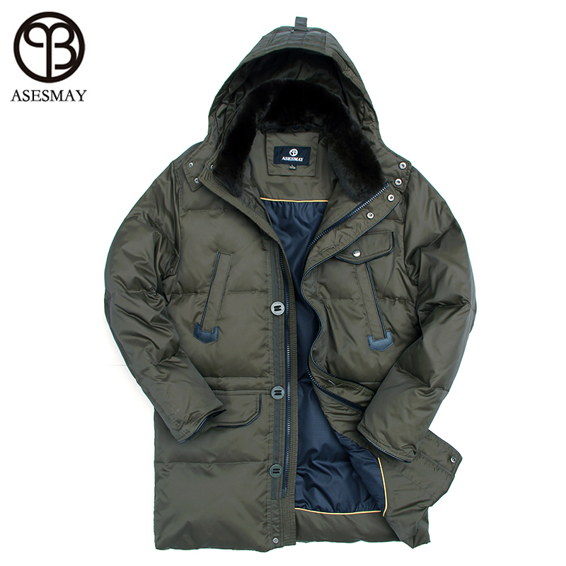 Asesmay Famous Brand Thick Warm Winter duck Down Jacket for Men Waterproof Parkas Coat high quality Western style mens Jackets
