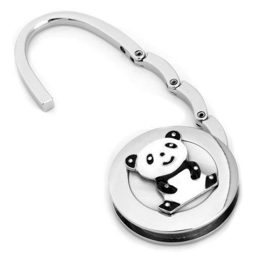 Runde Metall Falten Strass Panda Handtasche Tasche Geldbörse Haken Kleiderbügel Halter Charme