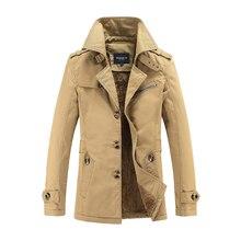 Wiatrówki dla mężczyzn 2020 nowe zagęszczone ocieplenie zimowe ubrania moda kurtki okazjonalne męski długi płaszcz duży rozmiar MOOWNUC