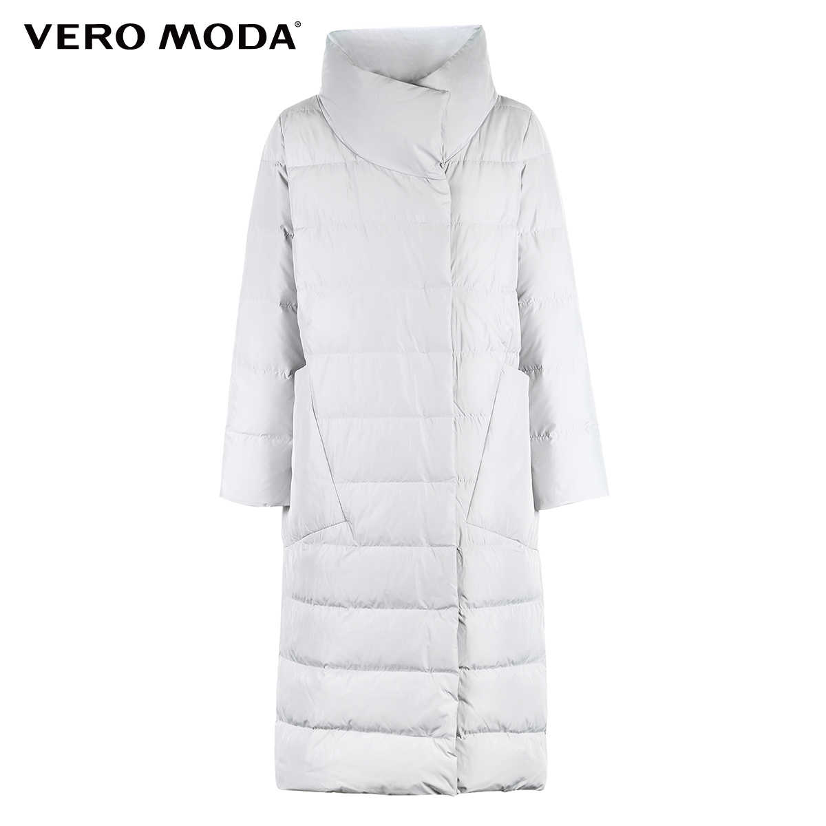 Vero Moda Baru 90% Bebek Putih Sisi Saku Kebesaran Panjang Jaket Wanita   318312511