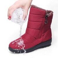 EXCARGO Warm Winter Shoes Women Platform Boots Warm Fur Bota Women Cotton Padded Ankle Boots For Women 2019 Boot Lady Waterproof