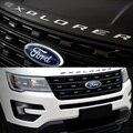 СЕРЕБРО ЧЕРНЫЙ ABS Хром и МЕТАЛЛА Капот Эмблема Буквы Блеск для Ford Explorer Sport 2011 2012 2013 2014 2015 2016 2017