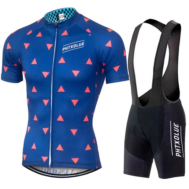 Цена за PHTXOLUE Велоспорт Одежда Велосипед Одежда/Дышащий Quick Dry Мужчины Велосипедов Одежда Велоспорт Устанавливает Коротким Рукавом Велоспорт Трикотажные устанавливает