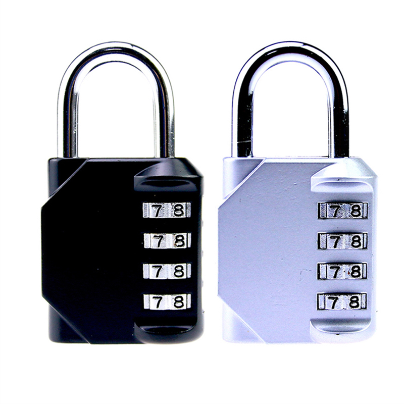 2017 New 4 Dial Digit Password Lock Combination Suitcase Luggage Metal Code Password Lock Padlock three digit password lock