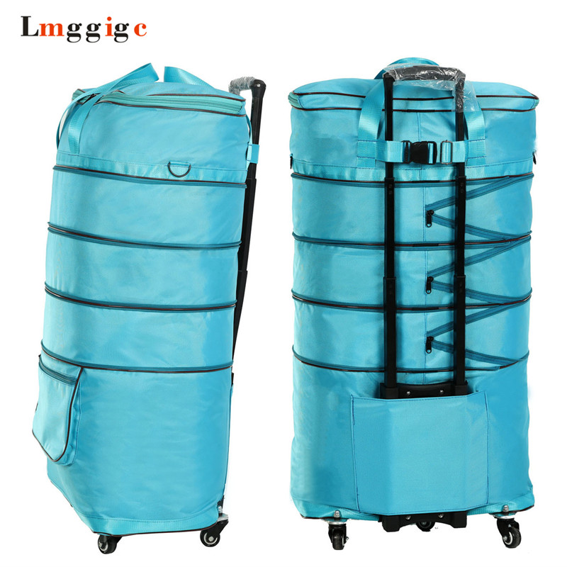 High capacity Rolling Luggage,Waterproof Oxford cloth Travel Suitcase bag,wheels Carry-On Car,Scalable Trolley case,New drag box