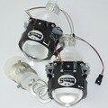 1 par 2.5 Pulgadas WST Bi Xenon Lente Del Proyector de luz led proyector Con lámpara de xenón H1 bi xenon proyector del faro