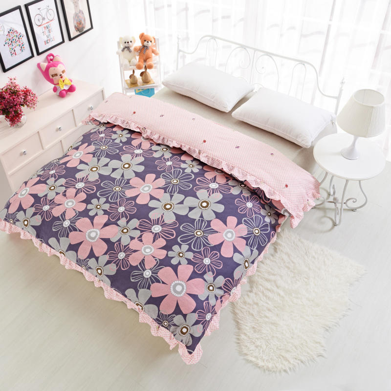 2018 new lace Duvet Cover Brief Style Bedding Printed Colored Quilt Cover For Bed 160*210/180*220/220*240 cm