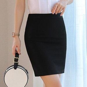 Image 5 - חצאיות נשים קיץ 2019 נשים שחור חצאית בתוספת גודל אישה גבוהה מותן OL חצאית אופנה נשים Workwear Bodycon עיפרון חצאיות 5XL