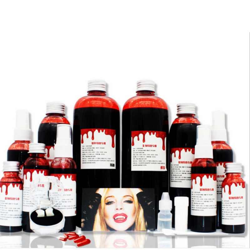 Ultra-realistic Fake Blood DIY Cos Halloween Terror Fake Joke  Bottles Drips Simulation Props Festival Party Supplies Decoration