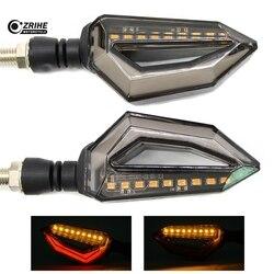 2 sztuk/1 para uniwersalny LED motocykl włącz sygnał świetlny dla YAMAHA YZF R25 R15 R6 R125 kawasaki z750 Z800 FZ8 FZ1 FZ6R na