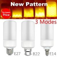 LED Flame Bulb E27 E26 E14 E12 B22 Fire Effect 2835SMD Lights Bulbs 5W Emulation LED