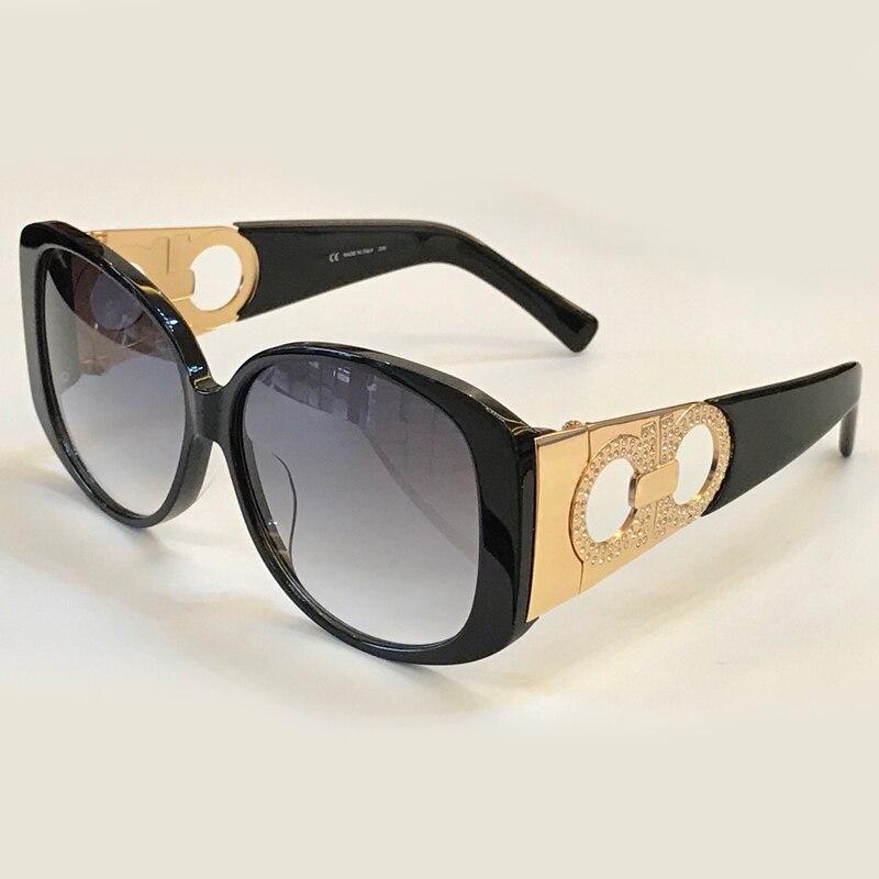 Ovale Delle Donne Occhiali Da Sole Del Progettista di Marca di Alta Qualità Oculos De Sol di Alta Qualità Montatura In Acetato UV400 Lens Shades con la Scatola