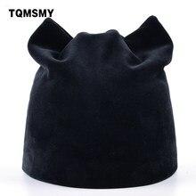 cf1110008e9 TQMSMY Women Autumn and Winter Beanie Hat Russian Warm Caps Women s Cat  Beanies Ear flaps Hat