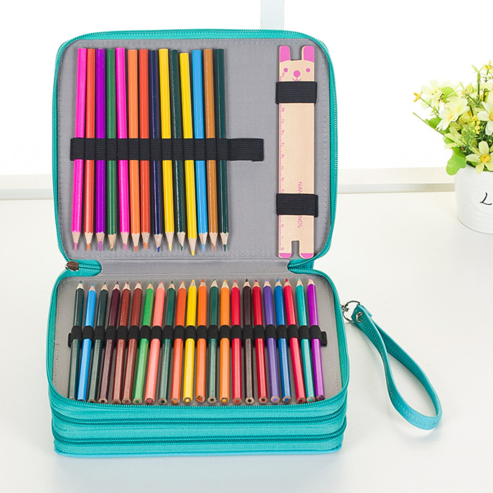 120 Crayon Curtain Sketch More Function Painting Student Pencil Bag Pencil Case Suit Goods In Stock WJ-HD23