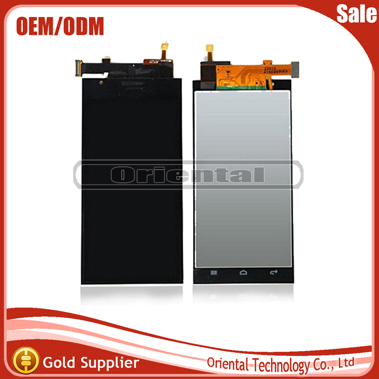 For Huawei Ascend P2 Black LCD Screen Display with touch screen digitizer assembly free shipping replacement original touch screen lcd display assembly framefor huawei ascend p7 freeshipping