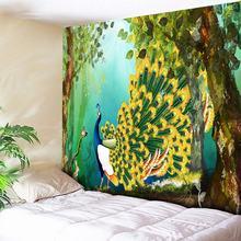Peacock Hanging Wall Tapestry Bohemian Hippie Tapestries Retro Trees Home Decor Yoga Beach Mat 150*130cm/150x150cm/150*230cm