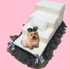 цена на High Density Sponge Dog Ladder Coral Velvet Lace Pet Stairway with Waterproof Layer Dog Training Ladder Customized Layer Number