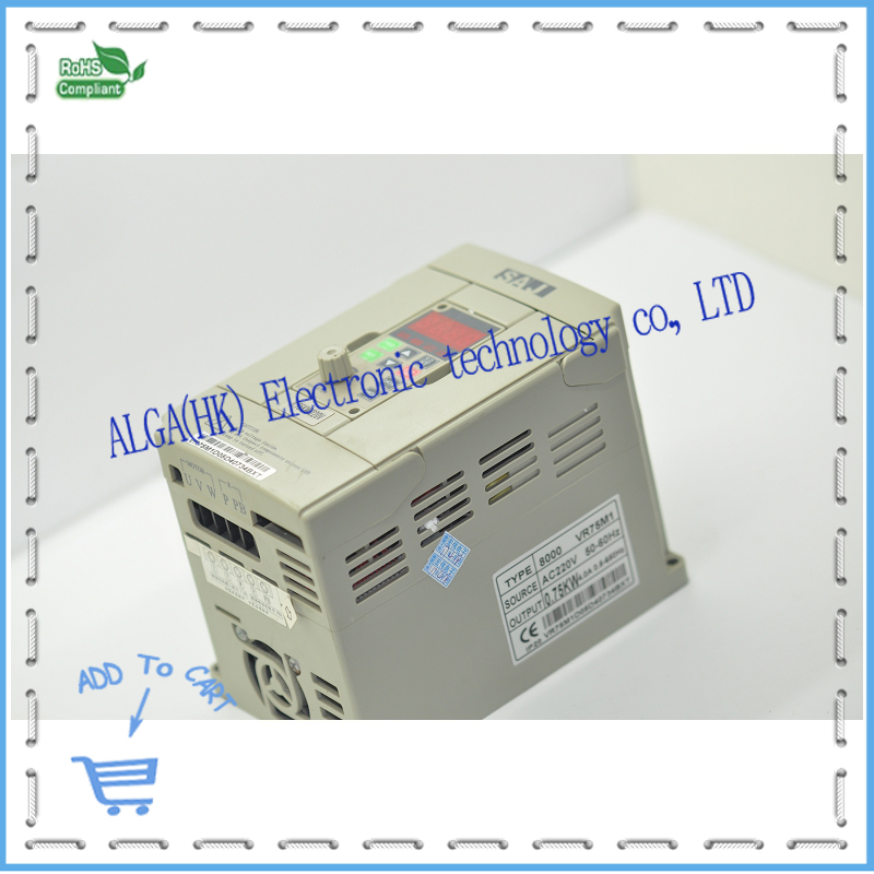 Frequency converter 8000 series VR75M1 0.75KW 220V has been testing good package sell at a low price.Frequency converter 8000 series VR75M1 0.75KW 220V has been testing good package sell at a low price.
