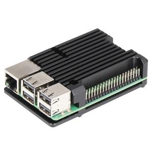 Image 3 - Nova CNC Da Liga de Alumínio Caso Com 3 Dupla Ventilador de Refrigeração do dissipador de Calor para Raspberry Pi Modelo B/Pi 3 B +