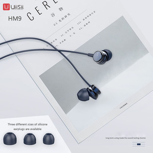 Image 2 - UiiSii HM9 Hot Selling Wired Noise Cancelling Dynamic Heavy Bass Music Metal In ear with Mic Earphone for iphone Xiaomi Samsung