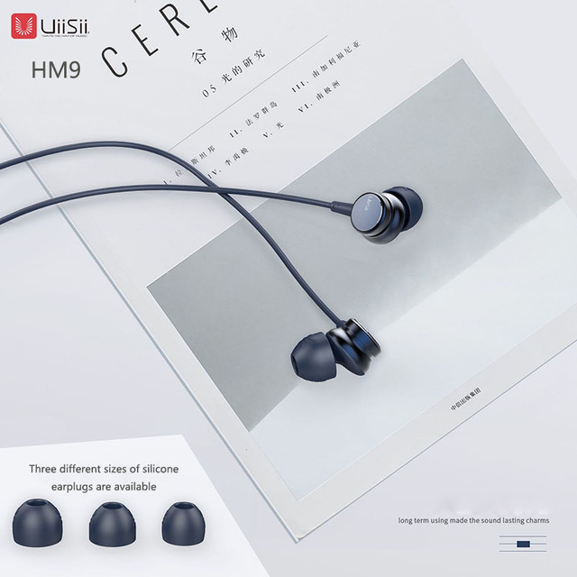 UiiSii HM9 Hot Selling Wired Noise Cancelling Dynamic Heavy Bass Music Metal In-ear with Mic Earphone for iphone Xiaomi Samsung 1