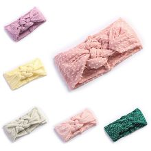 New Baby Hair Band Super Soft Wide-brimmed Knotted Infant Hairband Solid Color Gypsophila Starry Headband Headwear