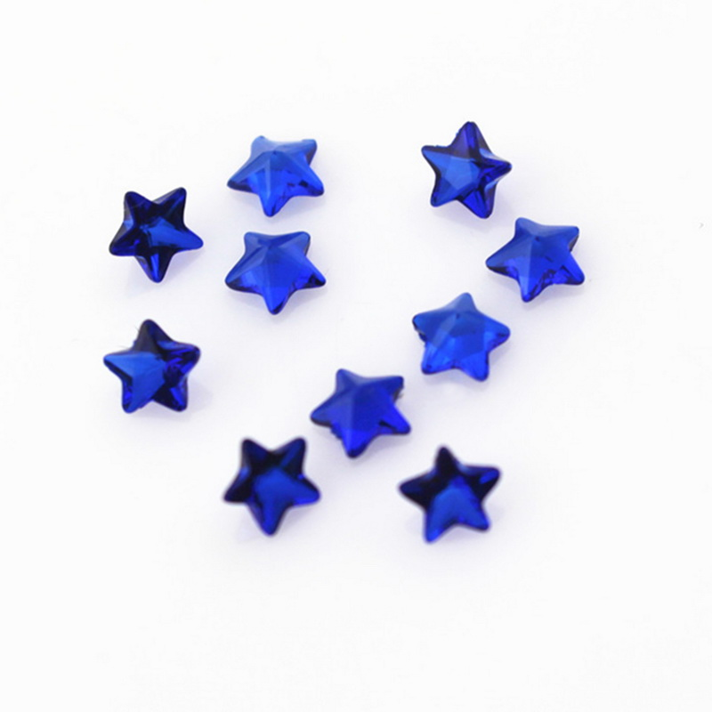 New Arrival 100pcs Birthstone Blue Crystal Star Floating Charms Living Resin Memory Lockets Pendants DIY Jewelry Charm in Charms from Jewelry Accessories