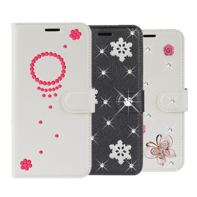 Mate 20 Lite Leather Christmas Case For Hawei Mate 9 10 Lite Pro 8 7 S RS Flip Wallet Holder Stand Cover Coque Diy Diamond Case