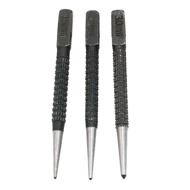 High Hardness 3pcs Professional Sample Punching Center Impact Location  Cylinder  Drill Hole Pin Punch Out